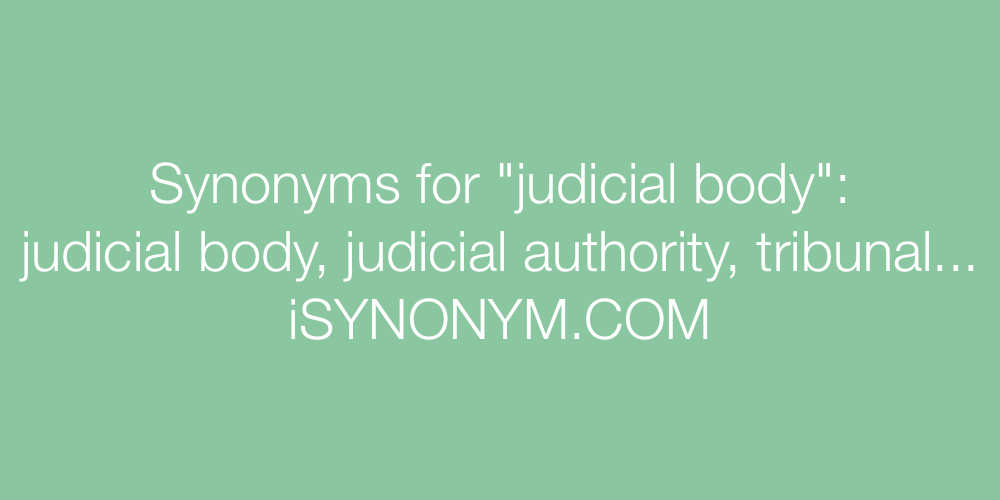 Synonyms judicial body