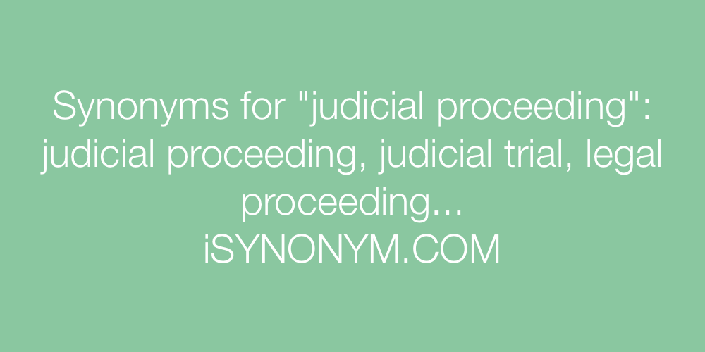 Synonyms judicial proceeding