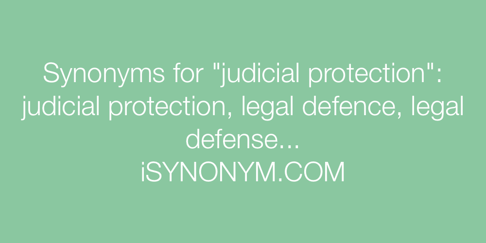 Synonyms judicial protection