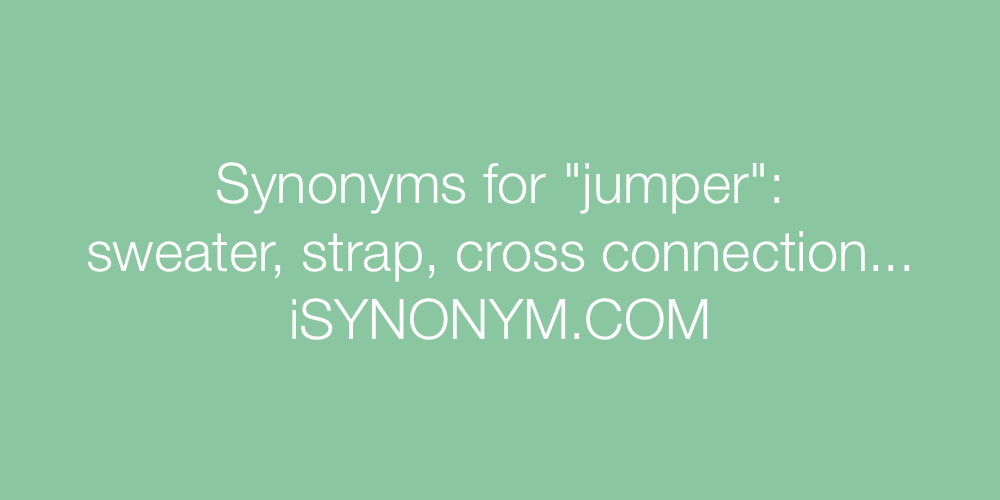 Synonyms jumper