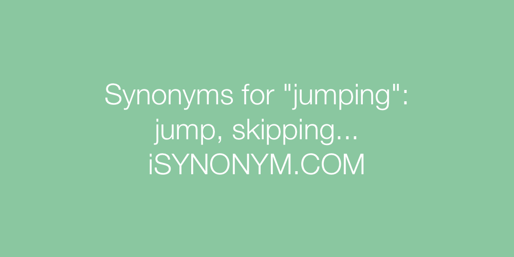 Synonyms jumping