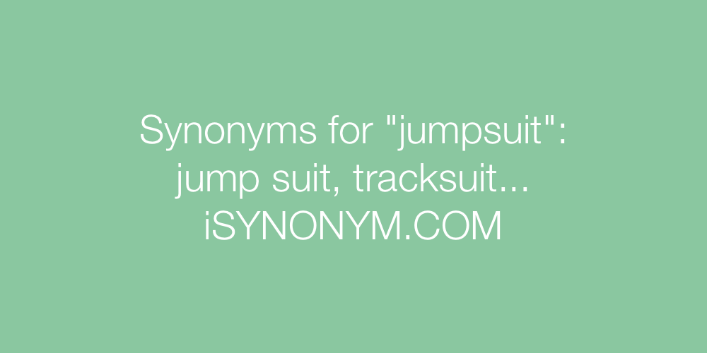 Synonyms jumpsuit