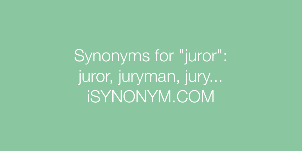 Synonyms juror