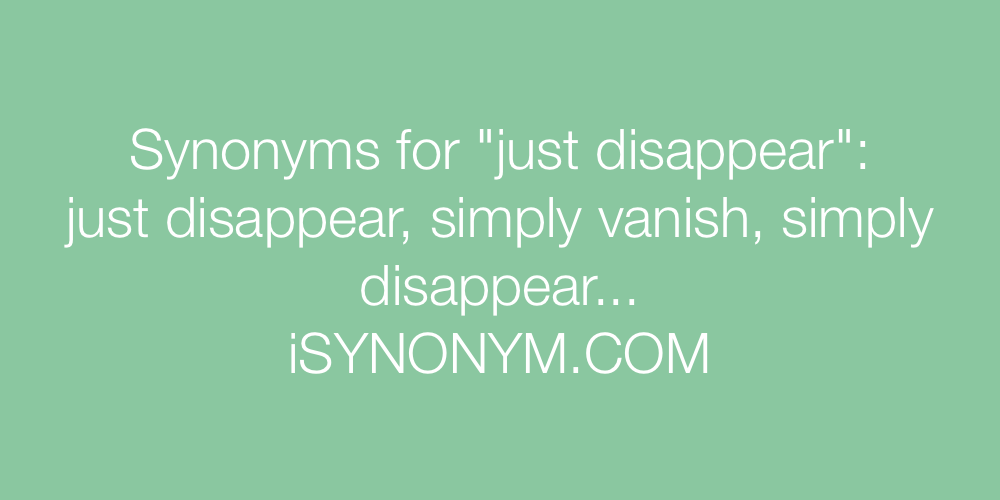 Synonyms just disappear