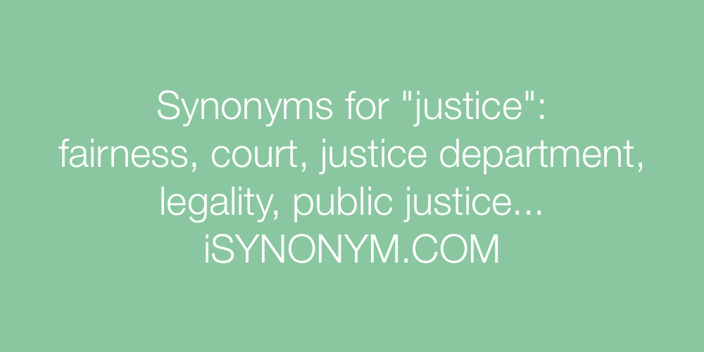 Synonyms justice