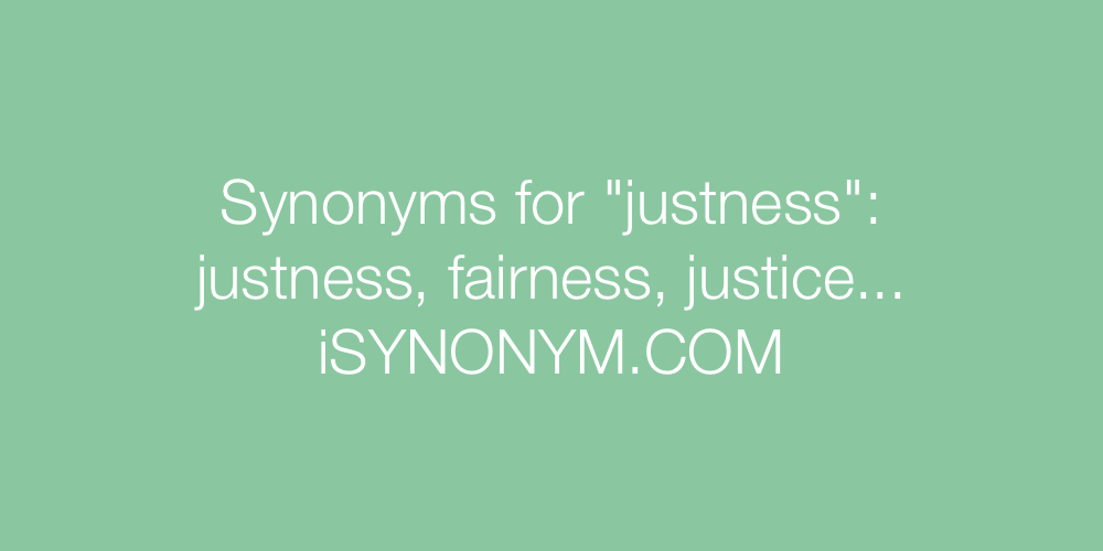 Synonyms justness