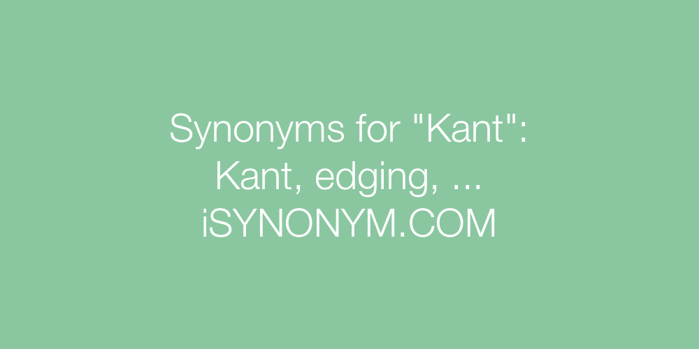 Synonyms Kant