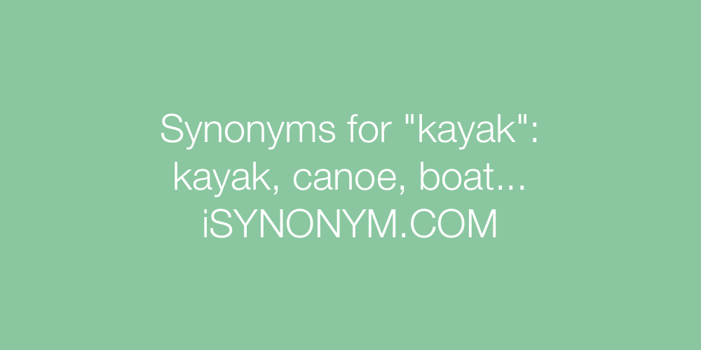 Synonyms kayak