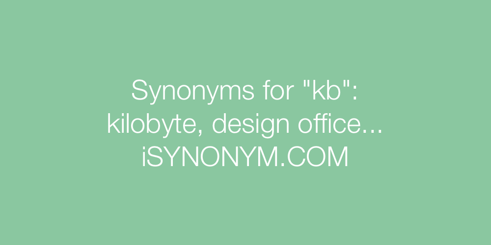Synonyms kb