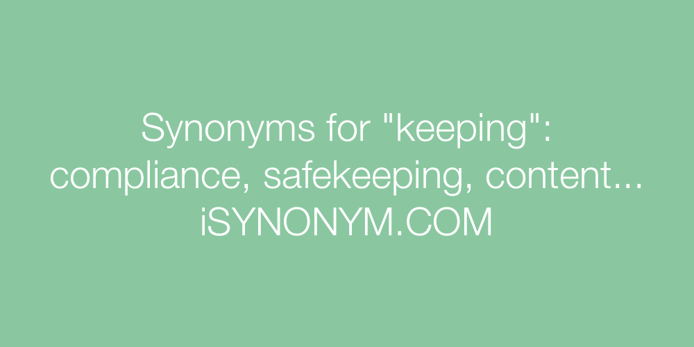 Synonyms keeping
