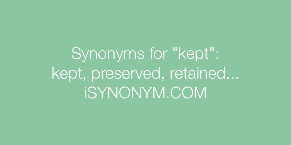 Synonyms kept