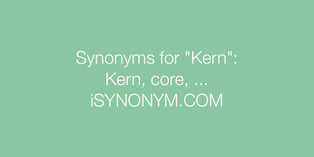 Synonyms Kern
