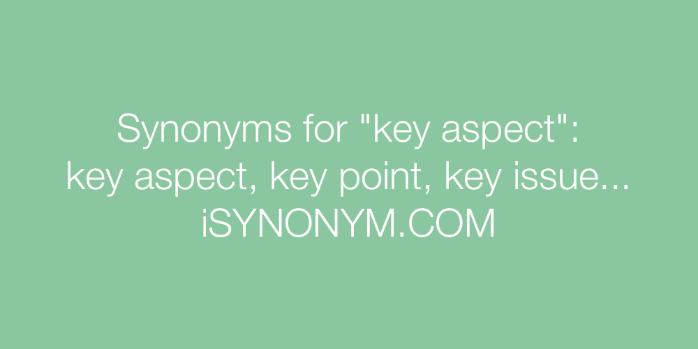 Synonyms key aspect