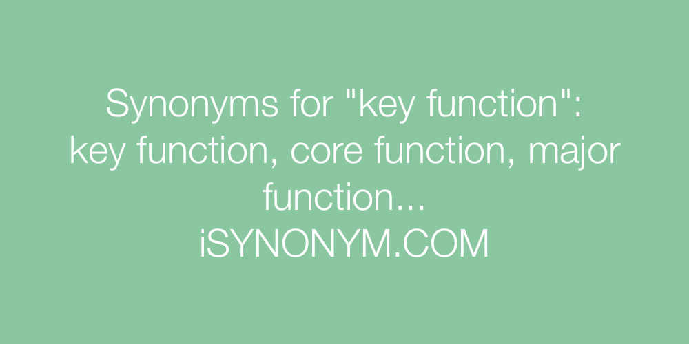 Synonyms key function