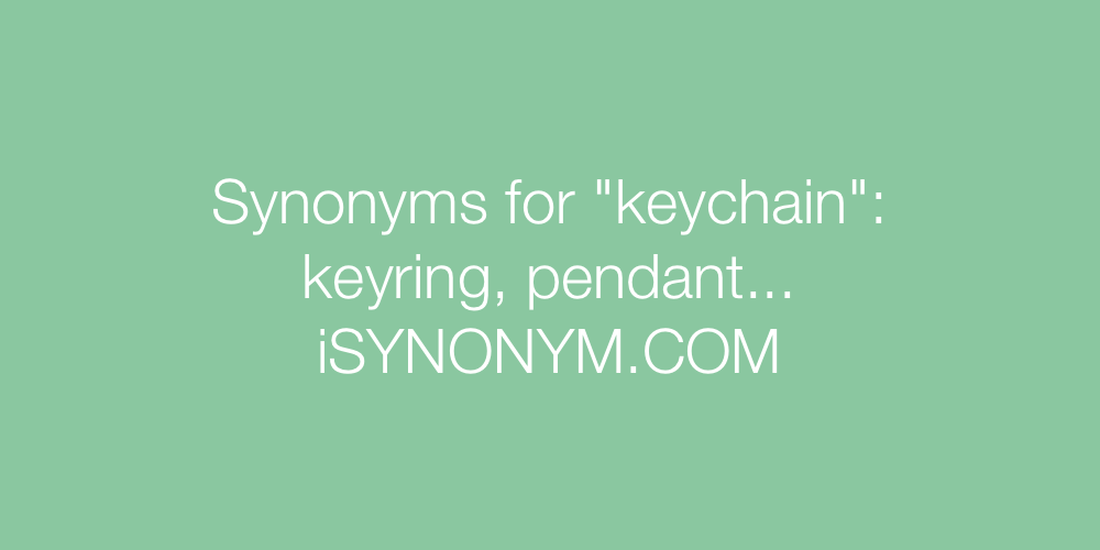 Synonyms keychain