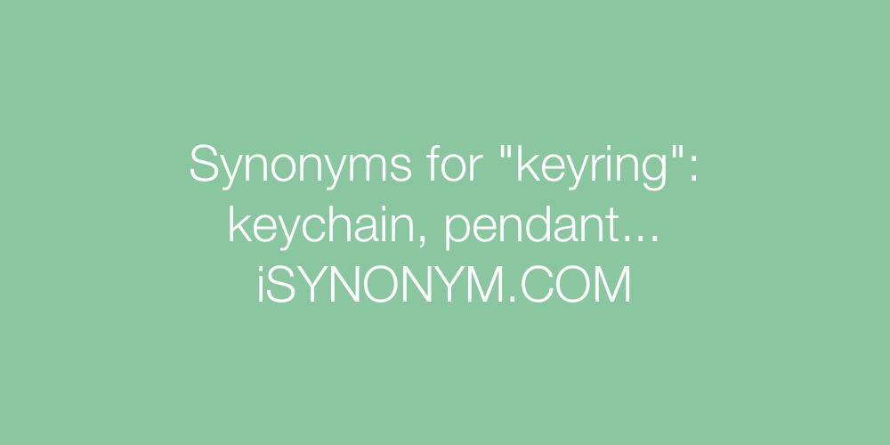 Synonyms keyring