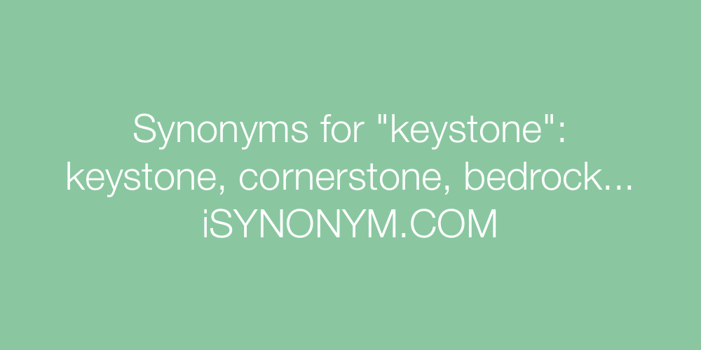 Synonyms keystone