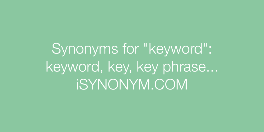 Synonyms keyword
