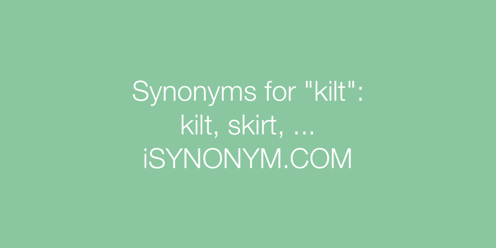 Synonyms kilt