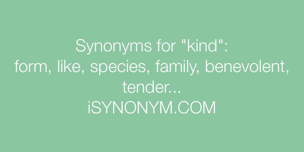 Synonyms kind
