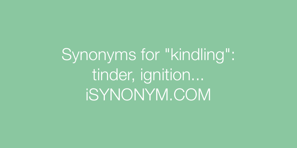 Synonyms kindling