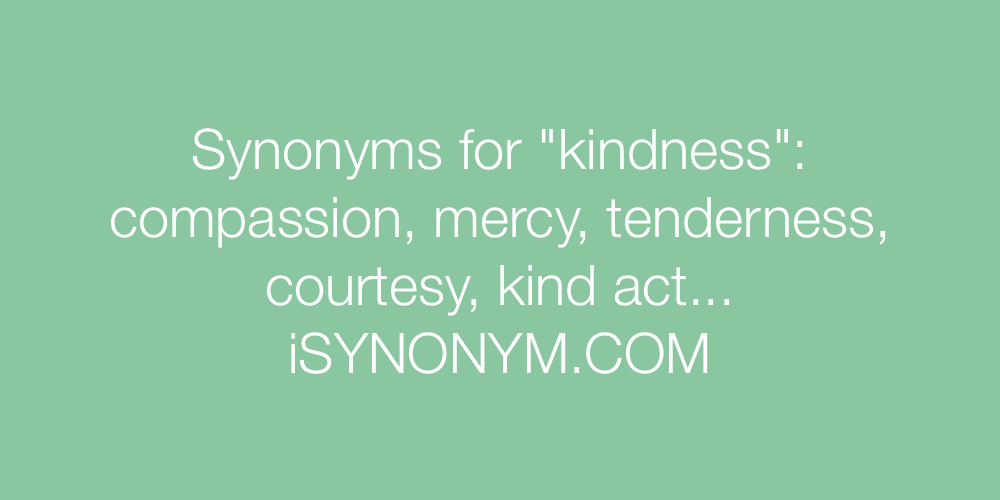 Synonyms kindness