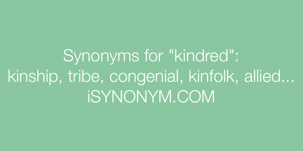 Synonyms kindred