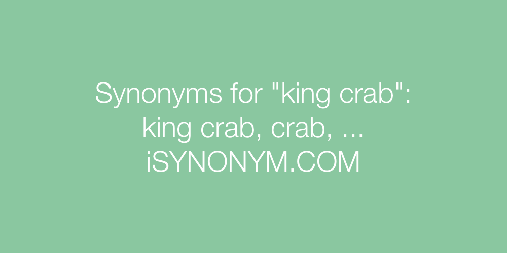 Synonyms king crab