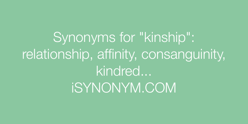 Synonyms kinship