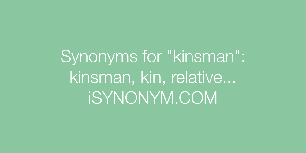 Synonyms kinsman
