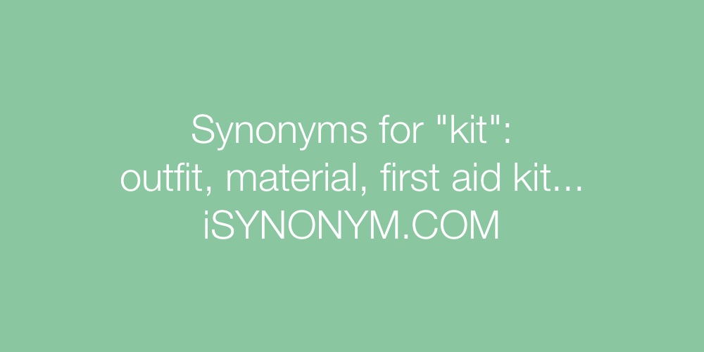 Synonyms kit