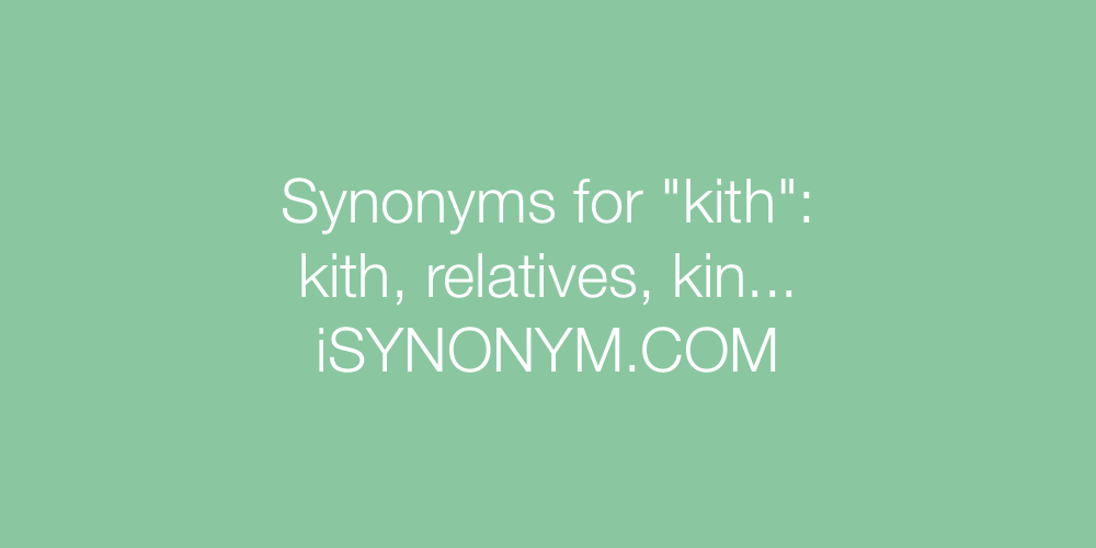 Synonyms kith