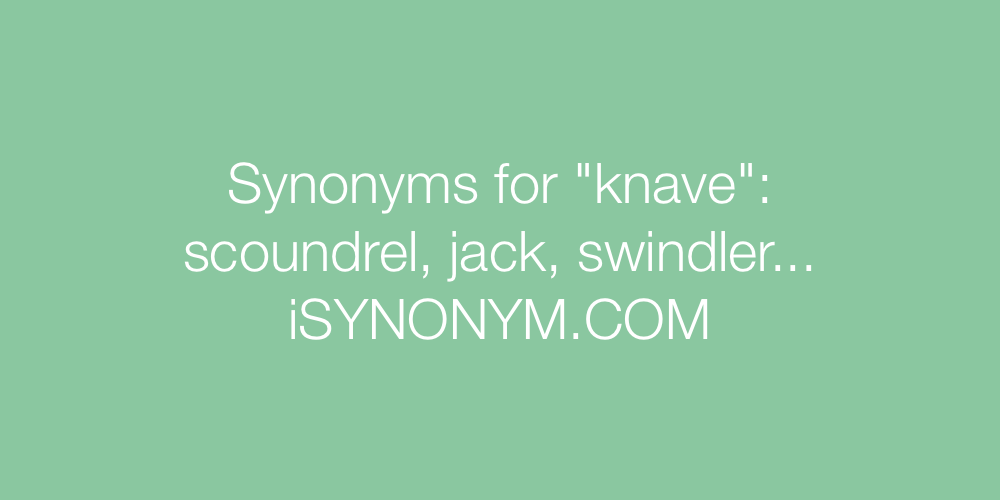Synonyms knave