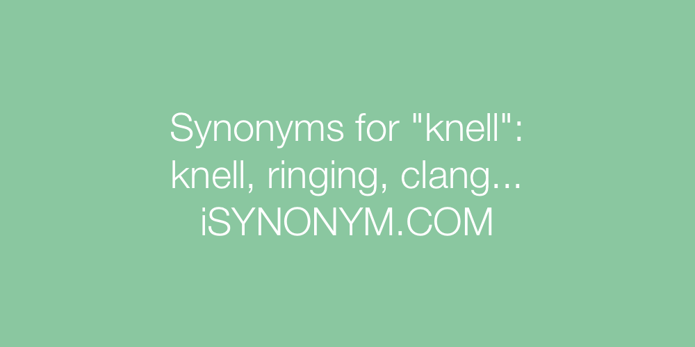 Synonyms knell