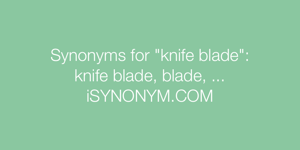 Synonyms knife blade