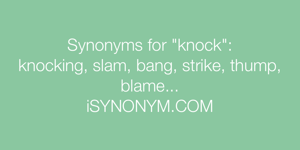 Synonyms knock