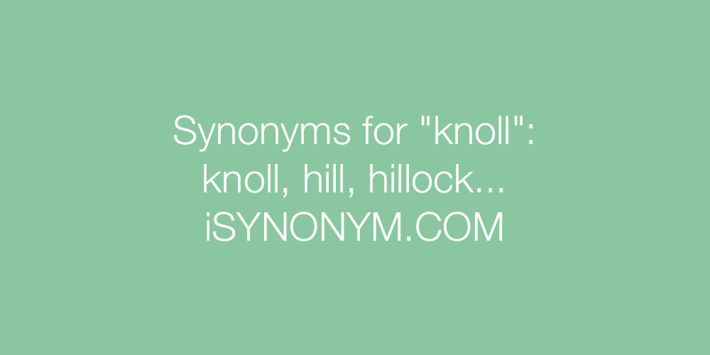 Synonyms knoll
