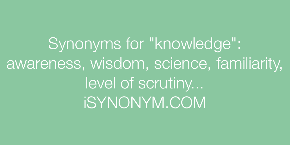 Synonyms knowledge