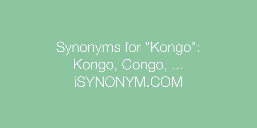 Synonyms Kongo