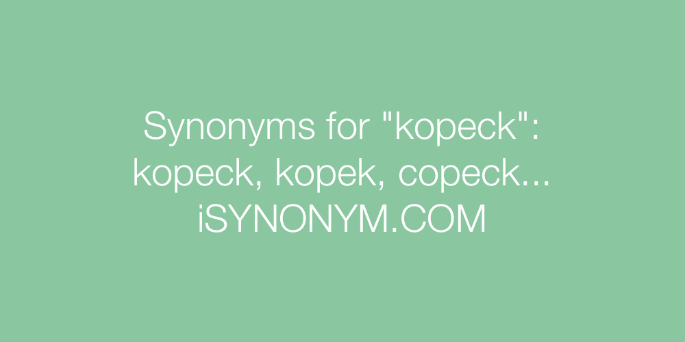 Synonyms kopeck