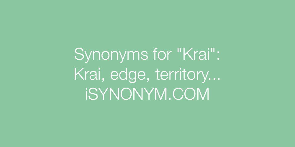 Synonyms Krai