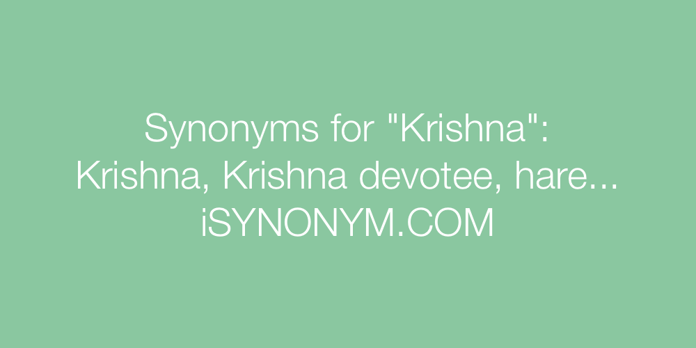 Synonyms Krishna