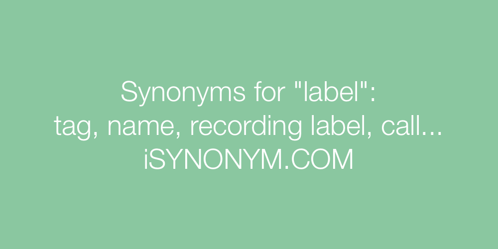 Synonyms label