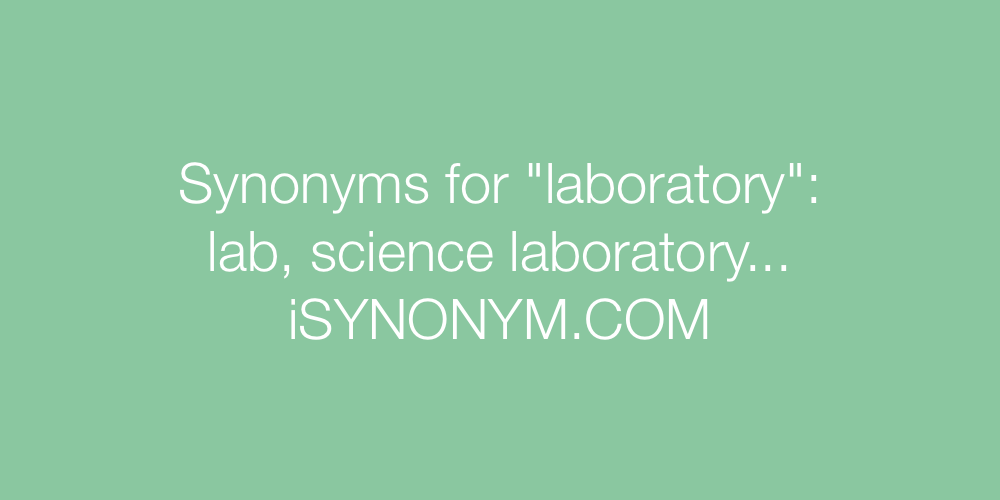 Synonyms laboratory