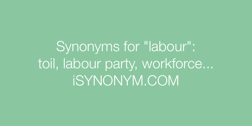 Synonyms labour