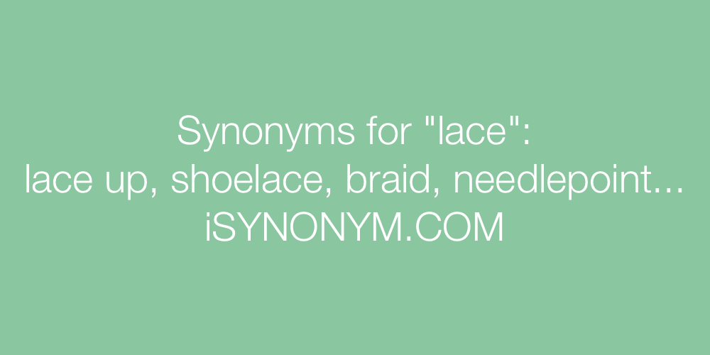 Synonyms lace