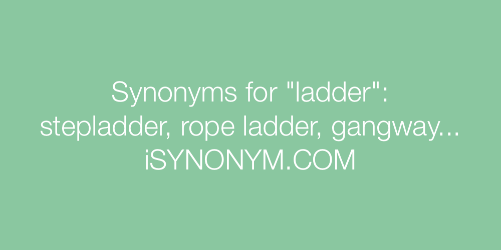 Synonyms ladder