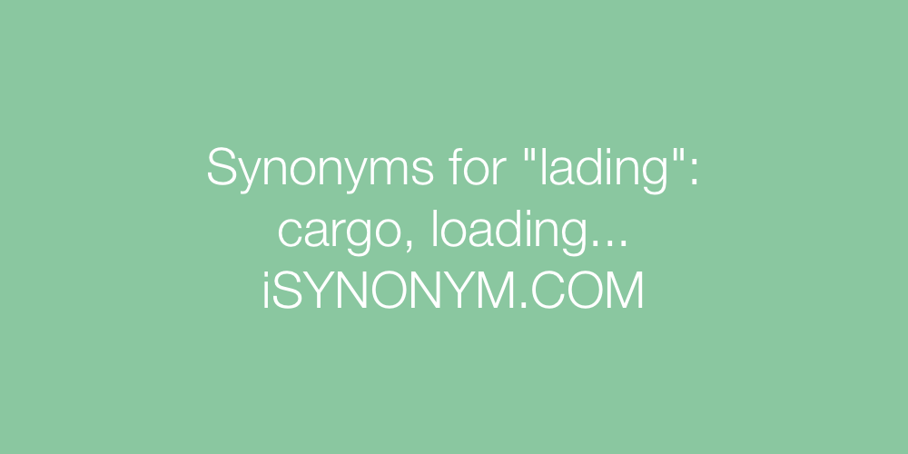 Synonyms lading
