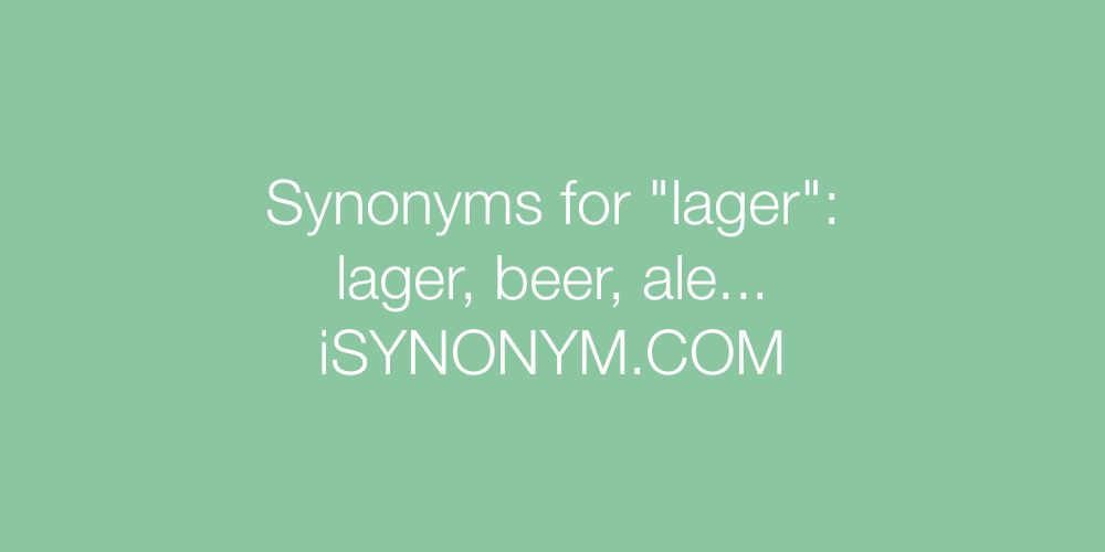 Synonyms lager