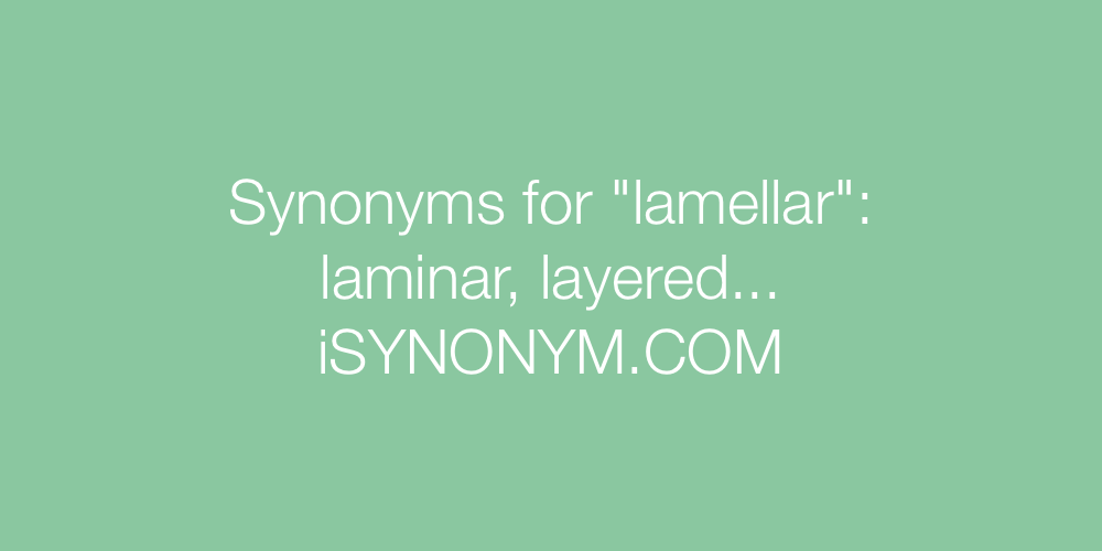 Synonyms lamellar